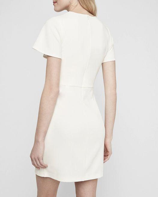 Đầm Nữ Express Wrap Skirt Sheath Dress Ivory