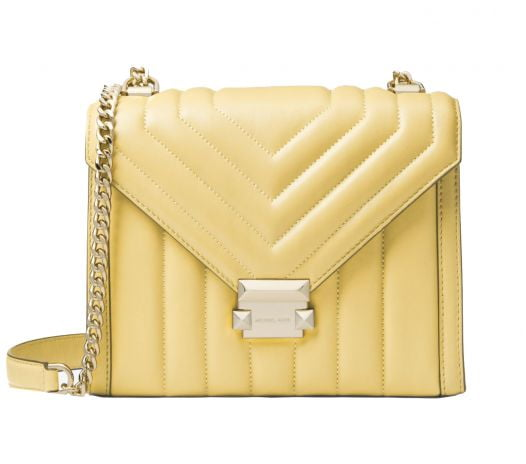 Túi Xách Nữ Michael Kors Whitney Large Quilted Leather Convertible Shoulder Bag Buttercup