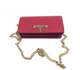 Túi Xách Nữ Prada Bandoliera Red Leather Handbag Red
