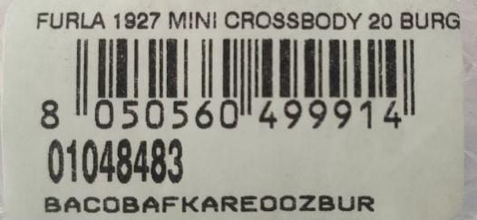 Túi Xách Nữ Furla 1927 Mini Crossbody 20 Burg Màu Đỏ Mận