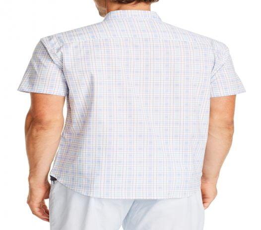 Áo Sơ Mi Nam Construct Check Print Slim Fit Shirt White Blue