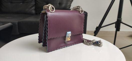 Túi Xách Nữ Fendi Kan I Small Purple