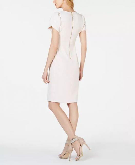 Đầm Nữ Calvin Klein - Tulip-Sleeve Sheath Dress Blossom