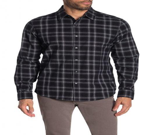 Áo Sơ Mi Nam Michael Kors Finn Plaid Print Slim Fit Shirt Black