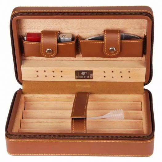 Hộp Đựng Cigar Có Bật Lửa Và Dao Cắt Cohiba Xj-T104