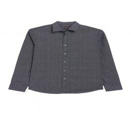 Áo Sơ Mi Nam Michael Kors Dot Print Classic Fit Shirt Midnight