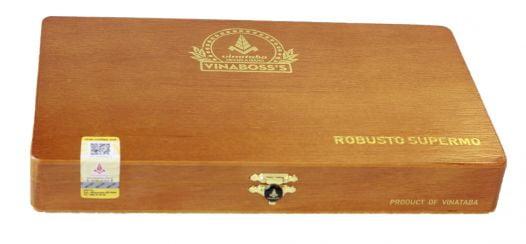 Cigar Vinaboss Robusto Supermo (Hộp gỗ vàng 10 điếu)