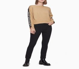Quần Jeans Nữ Calvin Klein Skinny High Rise Black Denim Ankle Jeans Jet Black