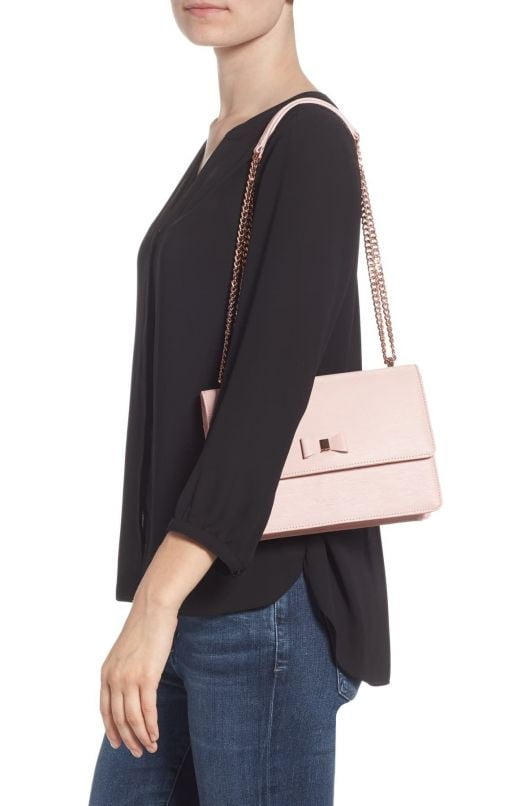 Túi Xách Nữ Ted Baker DELILA Bow Detail Leather Cross Body Bag Light Pink