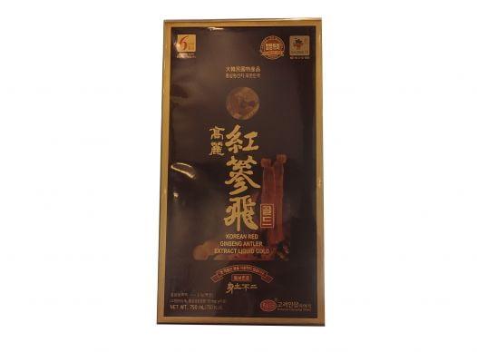 Nước Hồng Sâm KGS Antler Gold Nhung Linh Chi Hộp 1 Chai 750ml