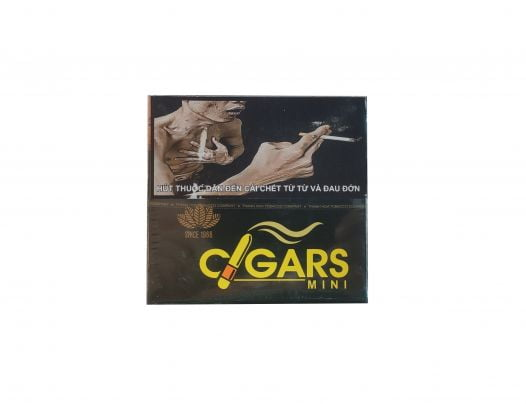 Cigar Lotus Mini No2 (Hộp sắt 10 điếu đen)