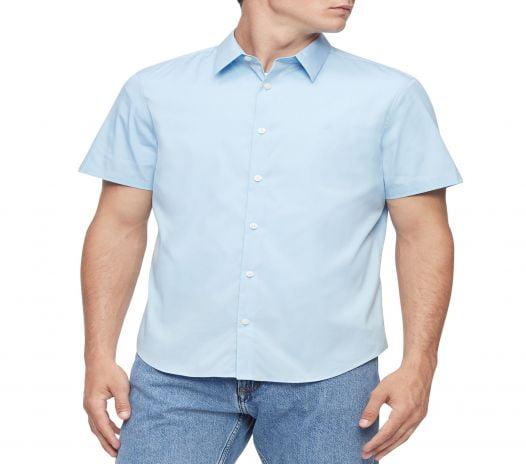 Áo Sơ Mi Nam Calvin Klein Men's Button-Up Shirt Cerulean