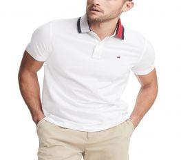 Áo Polo Nam Tommy Hilfiger Men's Custom Fit Signature Polo Bright White