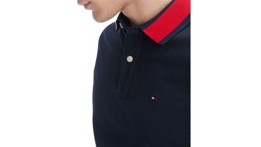 Áo Polo Nam Tommy Hilfiger Men's Custom Fit Signature Polo Sky Captain Blue