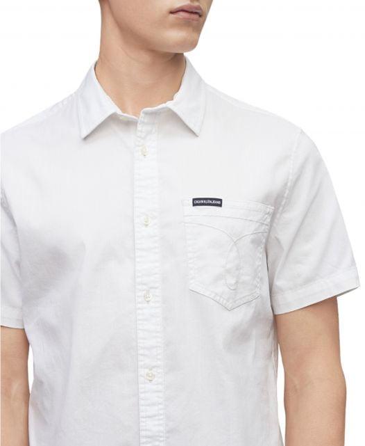 Áo Sơ Mi Nam Calvin Klein Jeans Men's Omega Shirt Brilliant White
