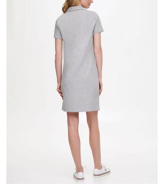 Đầm Nữ Tommy Hilfiger Colorblocked Polo Dress Stone Grey Heather
