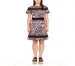Đầm Nữ Michael Kors Paisley-Print Dress, Regular & Petite Sizes Geranium