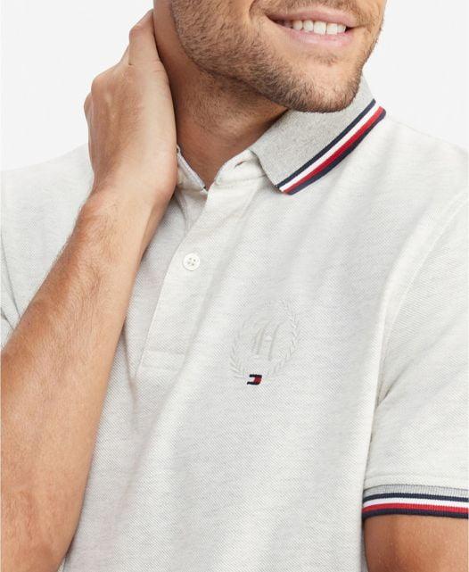 Áo Polo Nam Tommy Hilfiger Men's Tipped Polo Shirt Grey Heather