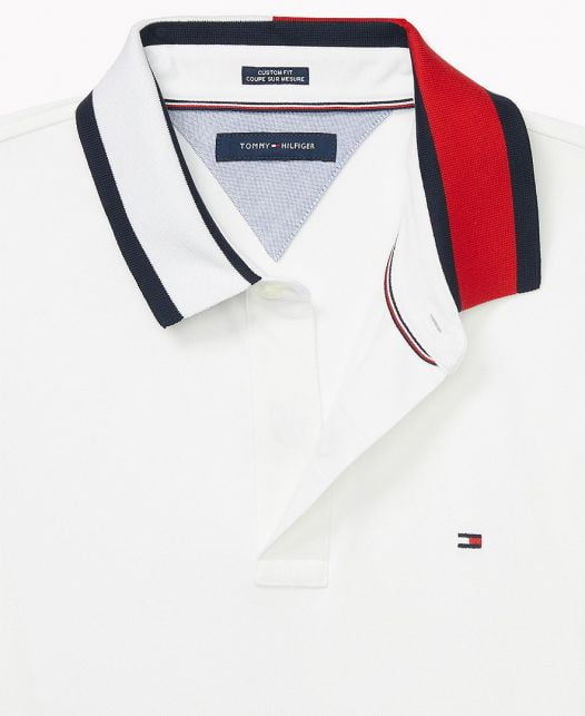 Áo Polo Nam Tommy Hilfiger Men's Custom-Fit Alan Polo with Magnetic Closure Bright White