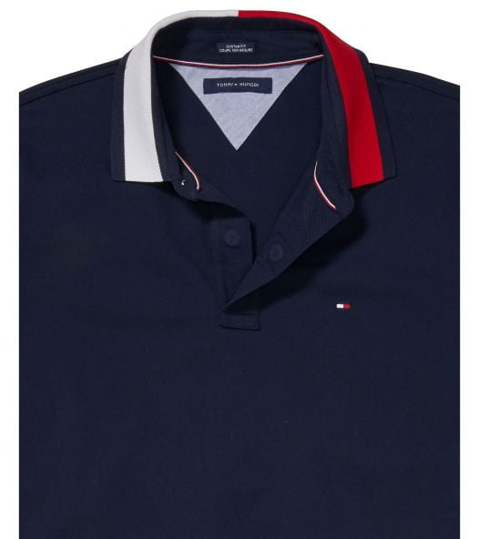 Áo Polo Nam Tommy Hilfiger Men's Custom-Fit Alan Polo with Magnetic Closure Sky Captain