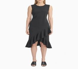 Đầm Nữ Calvin Klein Ruffle Hem Sleeveless Dress Klarna