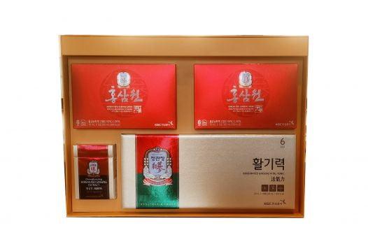 Hộp Quà Tặng Cao Cấp Hồng Sâm KGC Cheong Kwan Jang - Lộc Vượng Tài