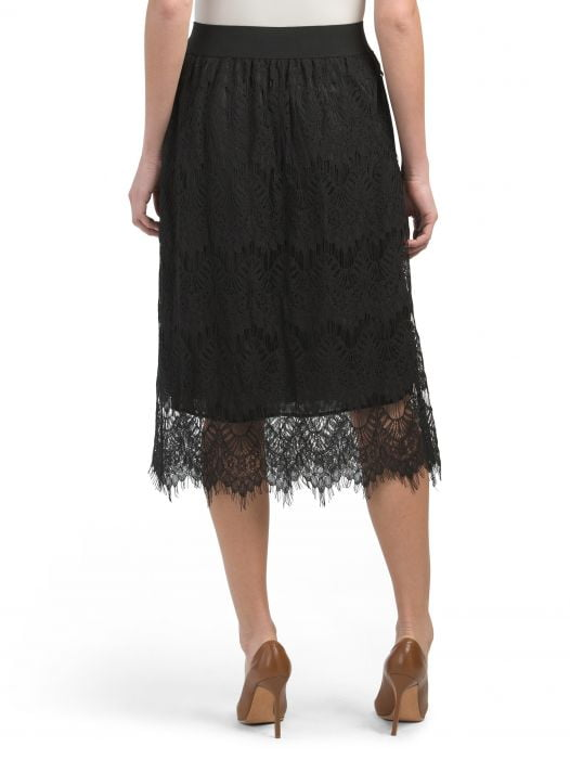Váy Nữ Studio West Lace Skirt Black