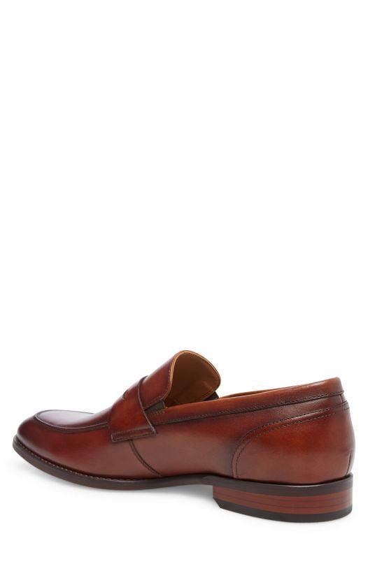 Giày Nam Steve Madden Pardin Leather Slip-On Penny Loafer Tan Leather