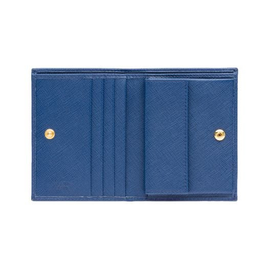 Ví Nữ Prada Da Saffiano Vitello Move Bluette - 1MV204