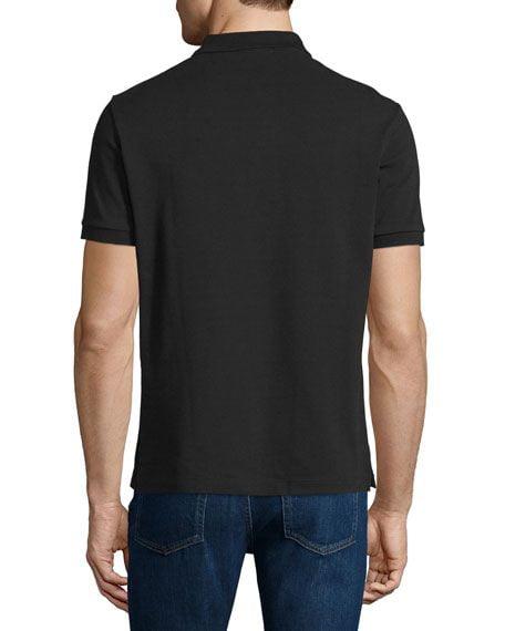 Áo Polo Nam Burberry Oxford Check Placket Cotton Black