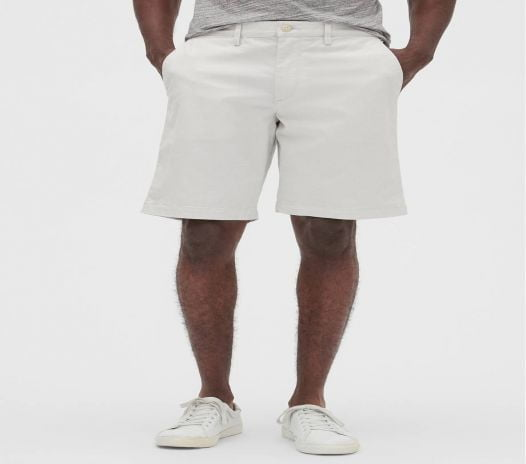 Quần Short Nam Gap 10 Essential Khaki Short with GapFlex - Carls Stone Grey