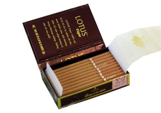 Cigar Lotus Super Slim - Bao 30 Điếu