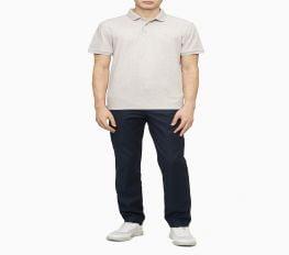 Áo Polo Nam Calvin Klein Regular Fit Liquid Touch Solid Polo Shirt Sandshell Htr