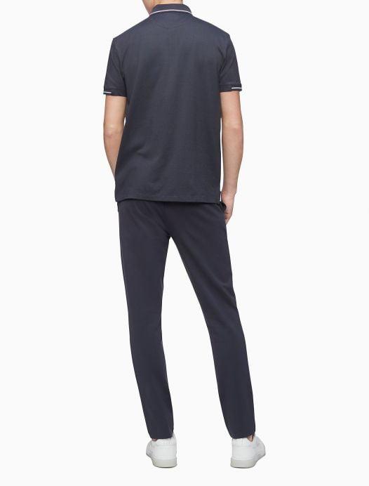 Áo Polo Nam Calvin Klein Move 365 Zip Polo Shirt Charcoal