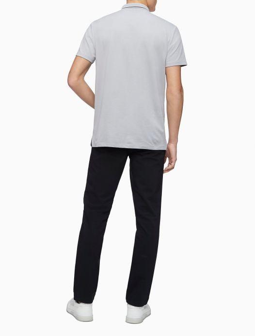 Áo Polo Nam Calvin Klein Move 365 Zip Polo Shirt Light Grey
