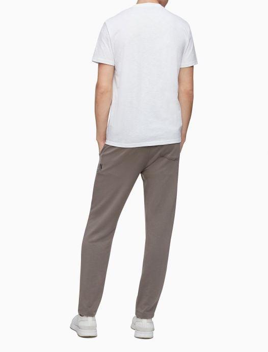 Áo Thun Nam Calvin Klein HD Line Logo Crewneck T-Shirt Brilliant White