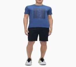 Áo Thun Nam Calvin Klein Hd Line Logo Crewneck T-Shirt Mid Storm