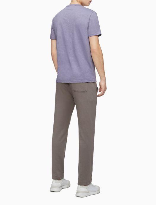 Áo Thun Nam Calvin Klein Hd Line Logo Crewneck T-Shirt Purple Sage