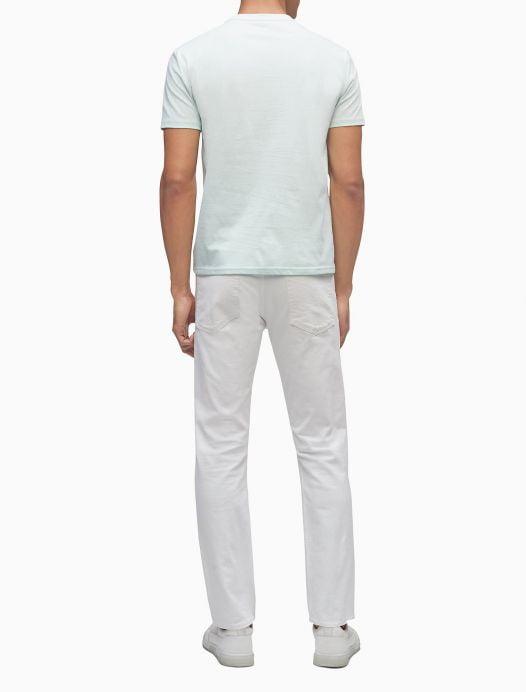 Áo Thun Nam Calvin Klein Gradient Box Logo Crewneck T-Shirt Moonlight Jade