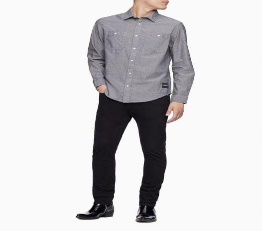 Áo Sơ Mi Nam Calvin Klein Indigo Workwear Button-Down Shirt Grey