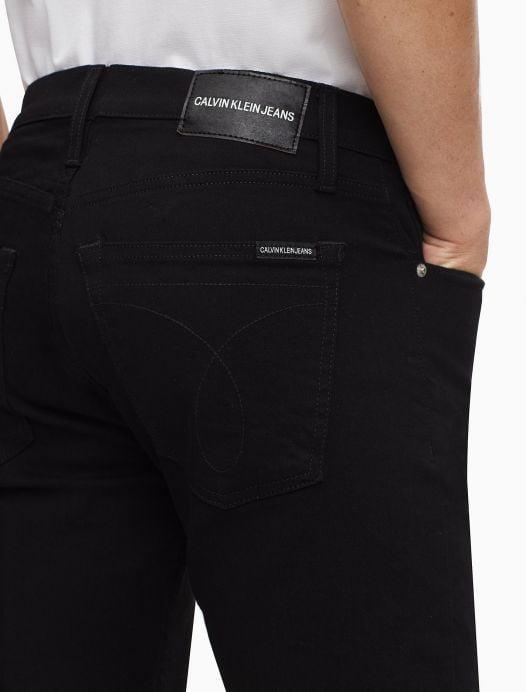Quần Jeans Nam Calvin Klein Straight Fit Forever Black Jeans Black