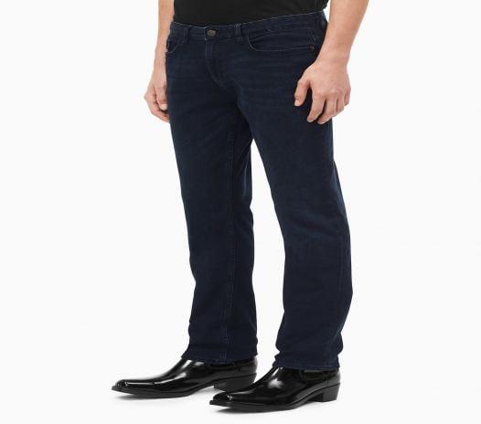 Quần Jeans Nam Calvin Klein Straight Leg Osaka Blue Jeans Dark Navy