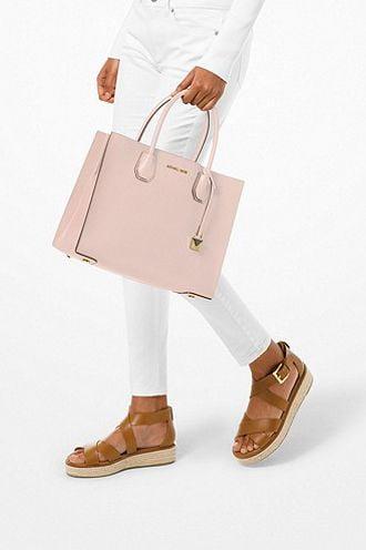 Túi Xách Nữ Michael Kors Tote Mercer Da Saffiano Size L Màu Soft Pink
