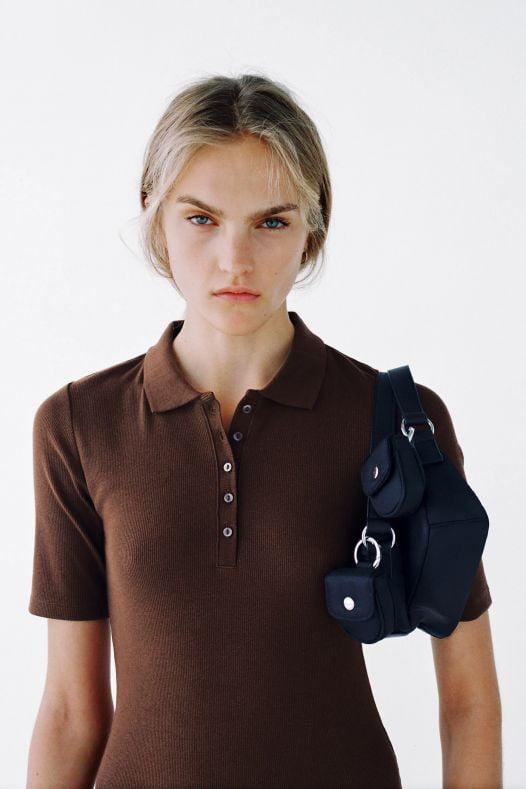 Đầm Nữ Zara Polo Neck Dress Brown