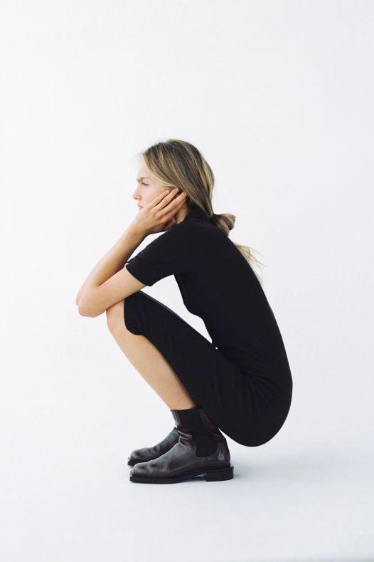 Đầm Nữ Zara Polo Neck Dress Black