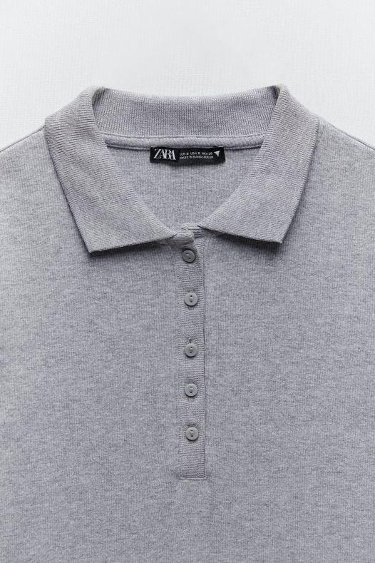 Đầm Nữ Zara Polo Neck Dress Gray Marl