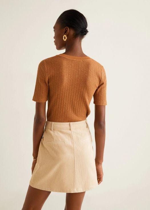 Váy Nữ Mango Corduroy Skirt Off White