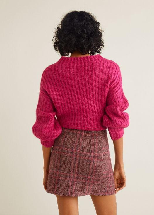 Váy Mini Nữ Mango Check Tweed Mini Skirt Pink