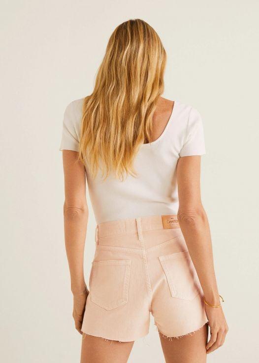 Quần Short Nữ Mango Cotton Organic Short Light Pink