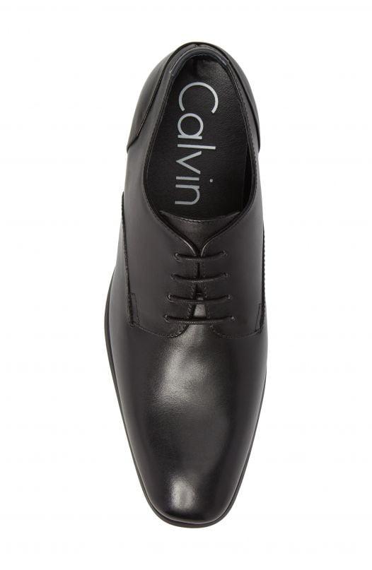 Giày Nam Calvin Klein Lucca Plain Toe Derby Black
